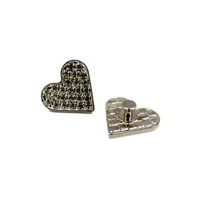 Piercing Coração níquel (Par)- PIN34