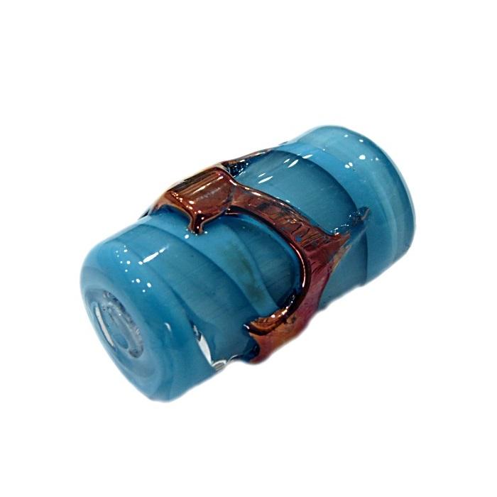 Firma de murano GG cobre\ azul turquesa leitoso- FM189