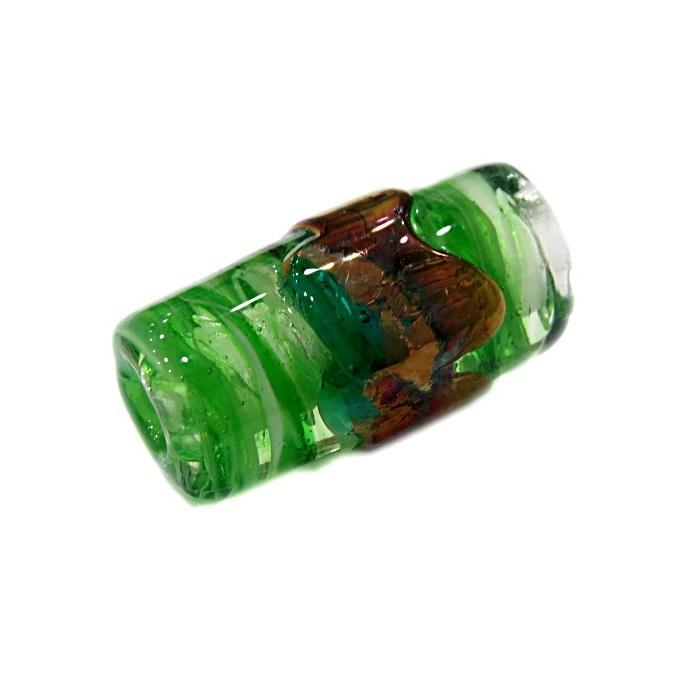 Firma de murano GG cobre\ verde cristal- FM191