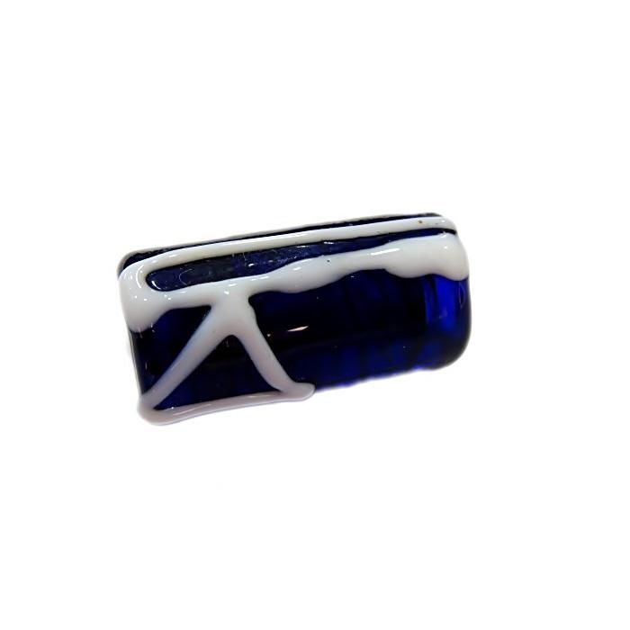 Firma de murano azul�o c\ machado- FM042