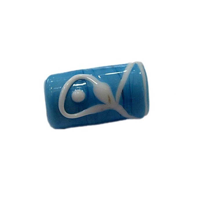 Firma de murano azul turquesa c\ peixe- FM045