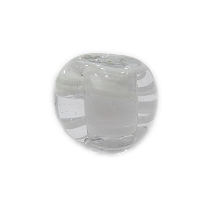 Pitanga de murano GG branco/ cristal- MU374
