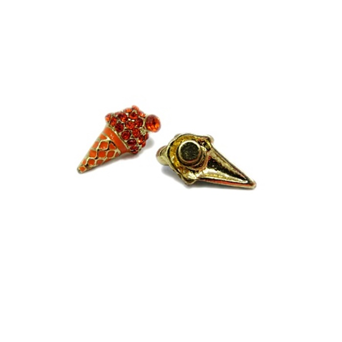 Piercing Sorvete dourado (Par)- PID059