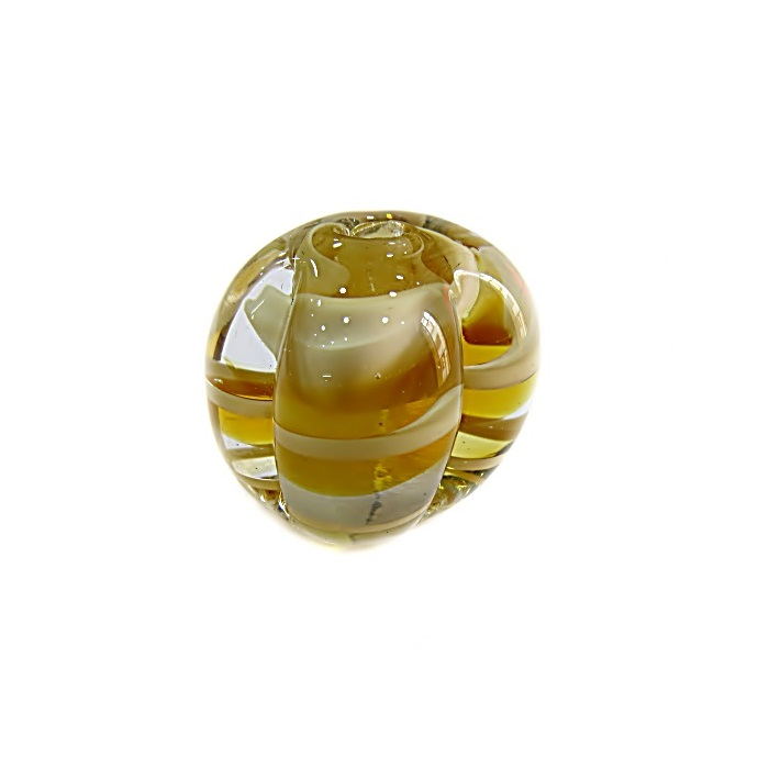 Pitanga de murano G ambar/ branco- MU401