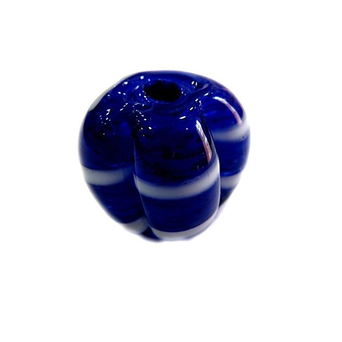 Pitanga de murano G azulão/ branco- MU403