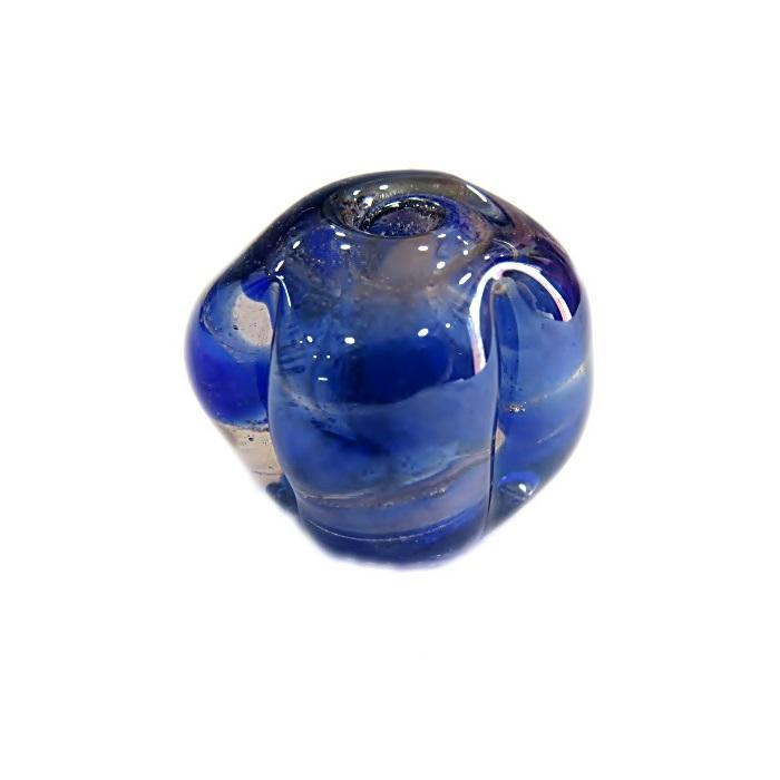 Pitanga de murano G azulão irisado- MU404