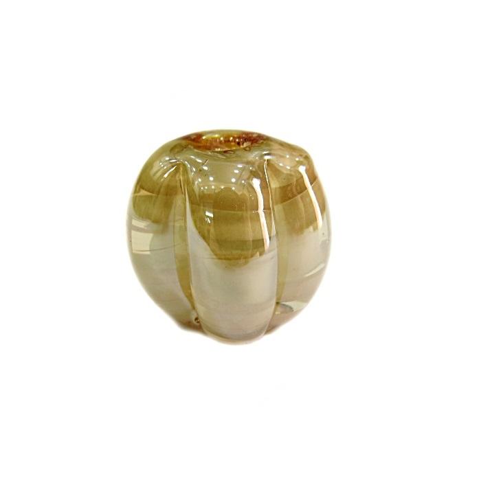 Pitanga de murano G branco irisado- MU406