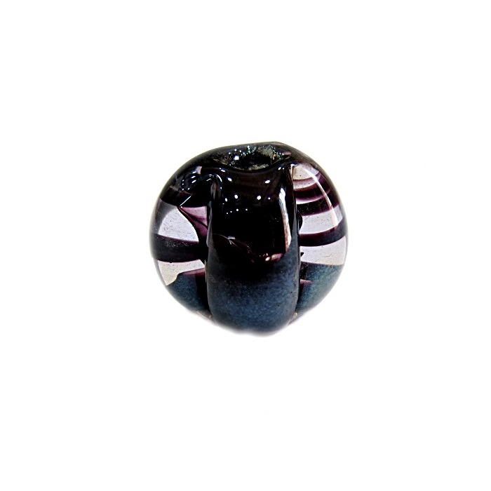 Pitanga de murano G preto irisado- MU416