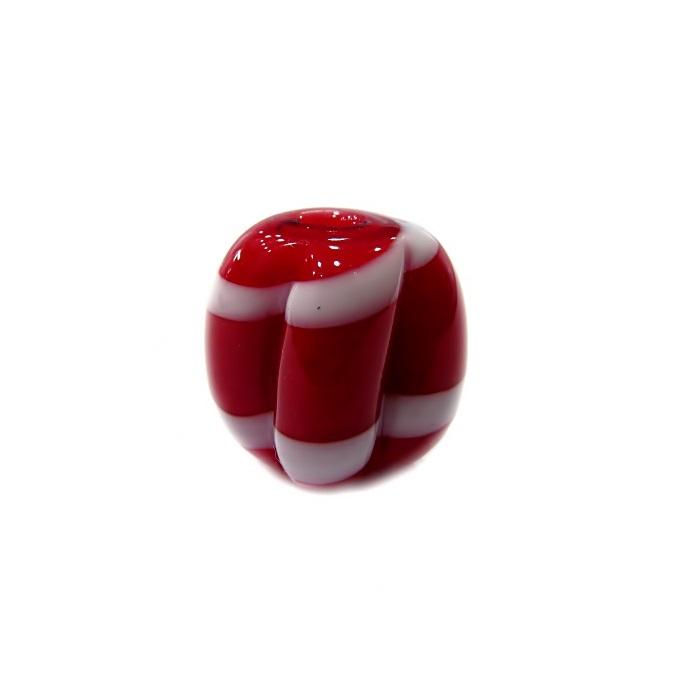 Pitanga de murano M vermelho/ branco- MU461