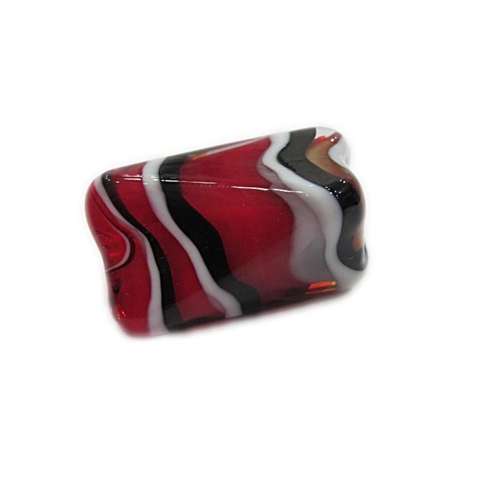 Facetado de murano GG vermelho/ preto/ branco- MU525