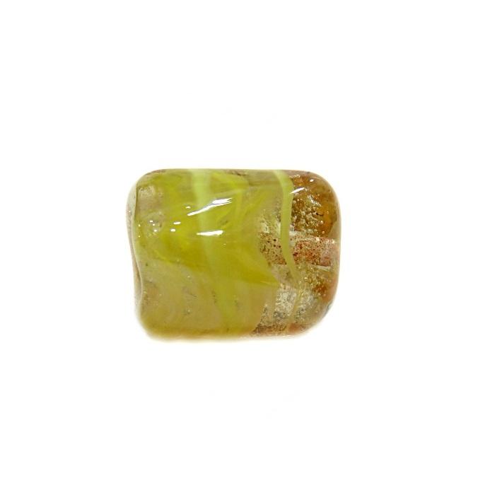 Facetado de murano G amarelo irisado-MU527