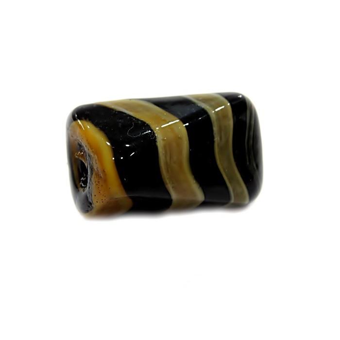 Facetado de murano G preto/ creme- MU553