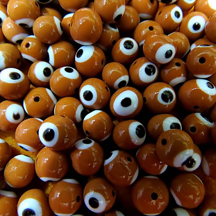 Olho grego marrom Nº 08 (20 unidades)- OG024