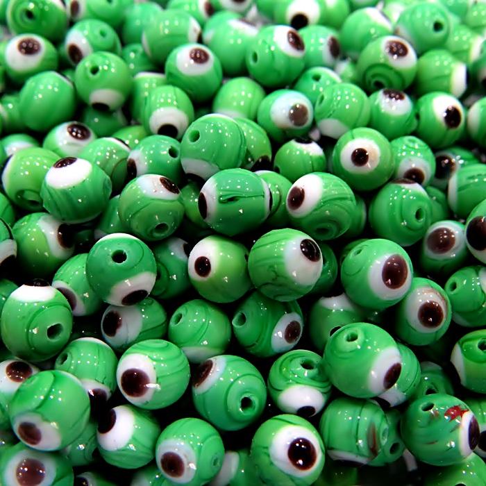 Olho grego verde Nº 08 (20 unidades)- OG030