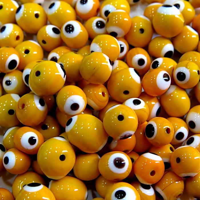 Olho grego amarelo gema Nº 08 (1.000 unidades)- OG034 ATACADO