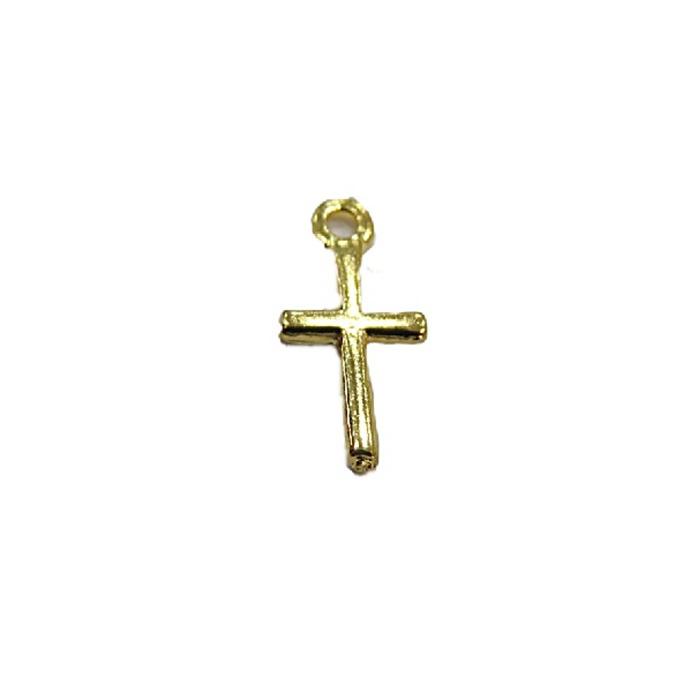 Pingente Dourado Mini- Cruz -20 peçasPDT055