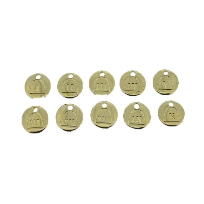 Pingente Dourado 10 Mandamentos -pdt059