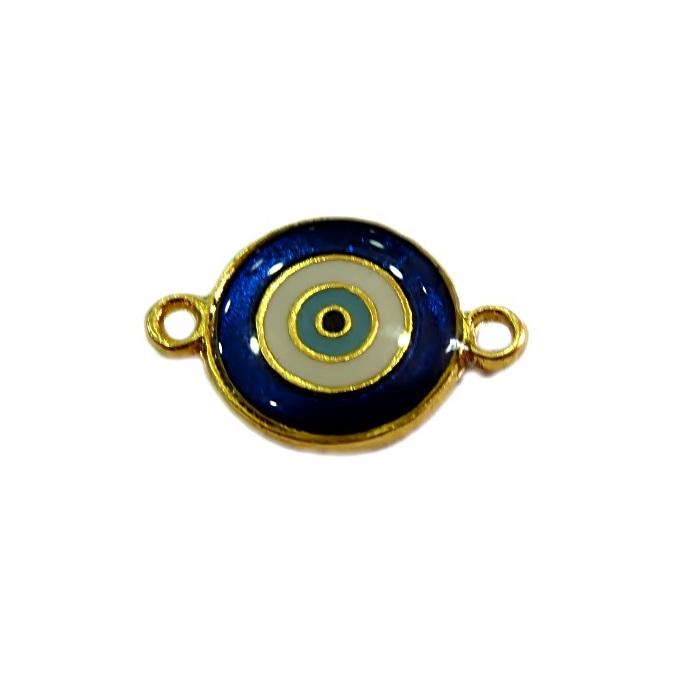 Entremeio olho grego dourado azulão- ED033