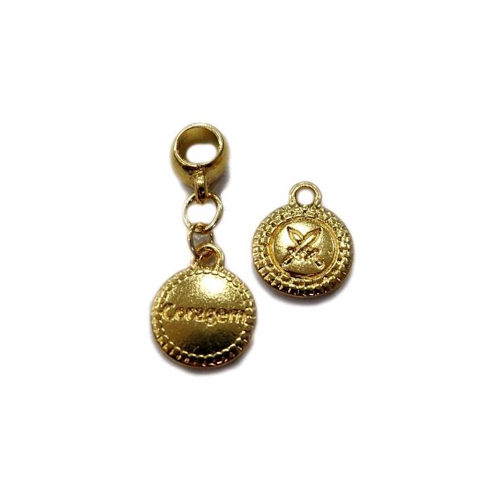 Berloque Dourado Medalha BED053