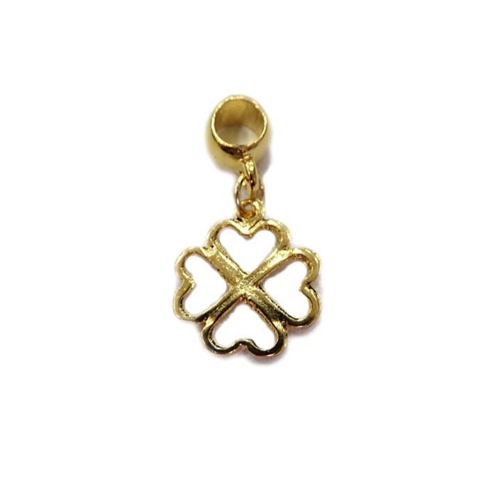 Berloque Dourado Trevo Achat. BED024