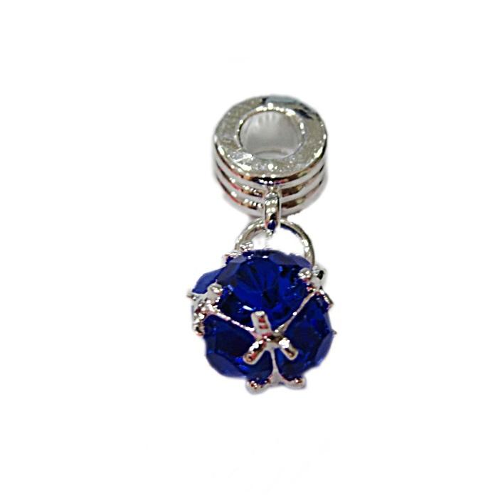 Berloque pingente níquel Bola de cristal- BEN355