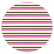 Tapete Saturs Listrado Redondo Rosa 140 cm Tapete para Sala e Quarto