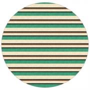 Tapete Saturs Listrado Redondo Verde 140 cm Tapete para Sala e Quarto