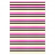 Tapete Saturs Listrado Rosa 100 x 140 cm Tapete para Sala e Quarto