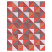 Tapete Saturs Moderno Ladrilho Vermelho 150 x 200 cm Tapete para Sala e Quarto