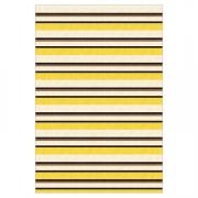 Tapete Saturs Moderno Listrado Amarelo 140 x 200 cm Tapete para Sala e Quarto