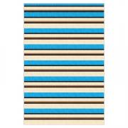 Tapete Saturs Moderno Listrado Azul 140 x 400 cm Tapete para Sala e Quarto