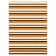Tapete Saturs Moderno Listrado Marrom 100 x 140 cm Tapete para Sala e Quarto