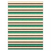 Tapete Saturs Moderno Listrado Verde 100 x 140 cm Tapete para Sala e Quarto