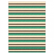 Tapete Saturs Moderno Listrado Verde 60 x 200 cm Tapete para Sala e Quarto
