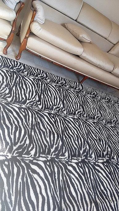 Tapete zebra felpudo 2 0 x 2 4 m saturs tapetes for Zebra tapete