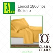 Lençol 1800 fios - Conjunto Premium Clara Clark - Solteiro/TWIN - Amarelo