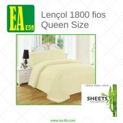 Lençol 1800 fios - Premium Bamboo Collection - Queen Size - Amarelo Claro