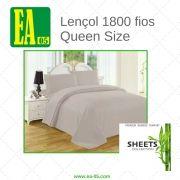 Lençol 1800 fios - Premium Bamboo Collection - Queen Size - Cinza