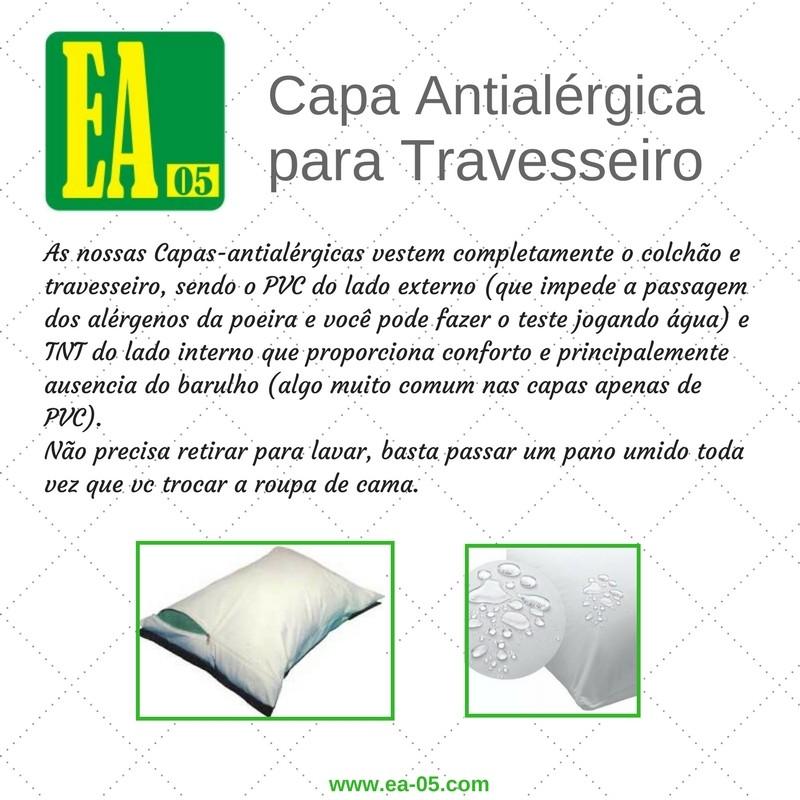 Capa antialérgica travesseiro - impermeável - bebê - PVC/TNT - 30x40 cm -  com zíper  - Espaço do Alérgico