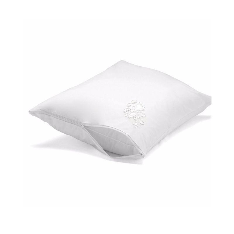 Capa antialérgica travesseiro - impermeável - adulto grande - PVC/TNT - 50x90 cm - com zíper