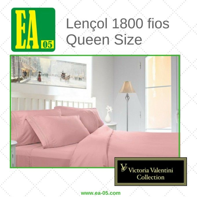 Lençol 1800 fios - Victoria Valentini Collection - Queen Size - Rosa