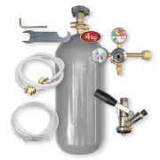 Kit Extração 1 Via + Cilindro Co2 4kg Para Chopp Ou Cerveja Artesanal