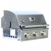 Churrasqueira a Gás Home e Grill Smart HG-3BS - 3 Queimadores - 100% Inox 304