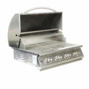 Churrasqueira a Gas Home e Grill Deluxe Premium HG-4B - 4 Queimadores - 100% Inox 304