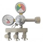 Regulador de Pressão de Co2 3 Saídas Para Chopp ou Cerveja Artesanal