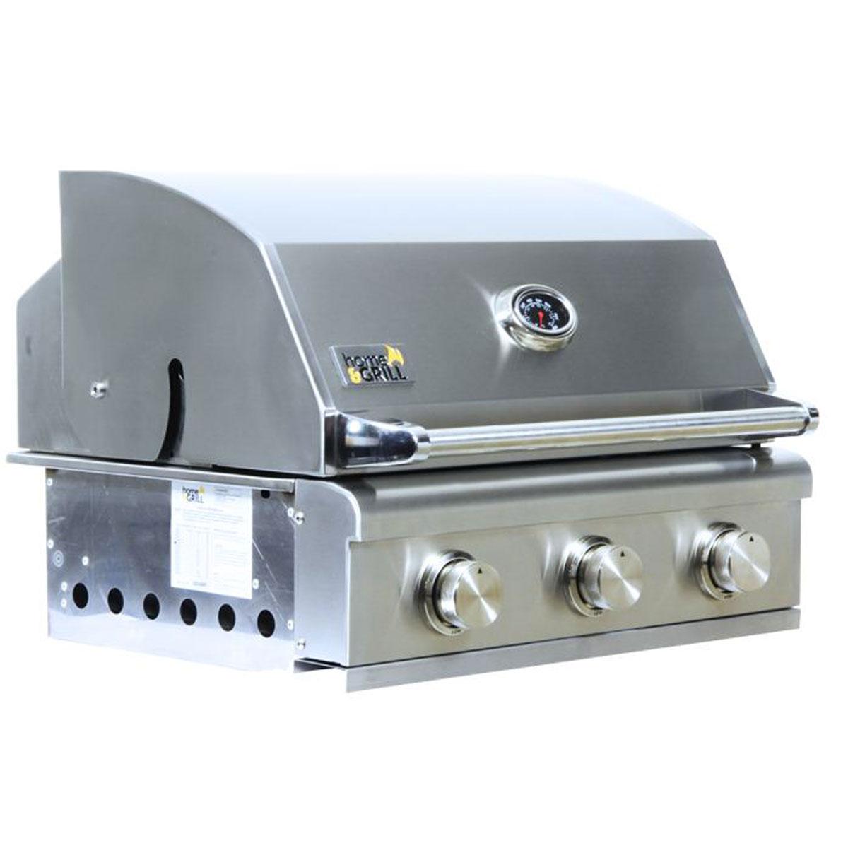 PROMOÇÃO Churrasqueira a Gás Home e Grill Smart HG-3BS - 3 Queimadores - 100% Inox 304 + Brindes