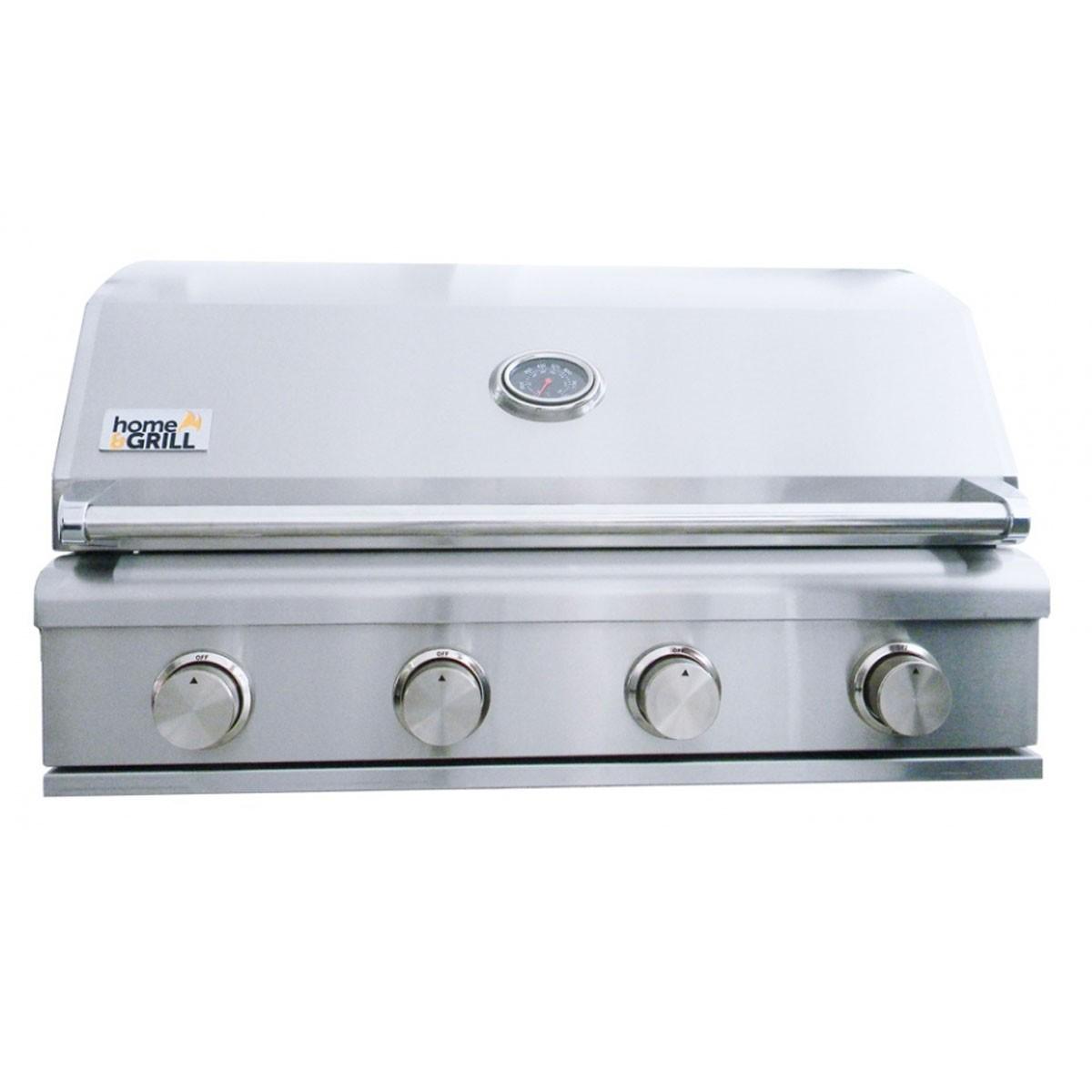 PROMOÇÃO Churrasqueira a Gás Home e Grill Smart HG-4BS - 4 Queimadores - 100% Inox 304 + Brindes