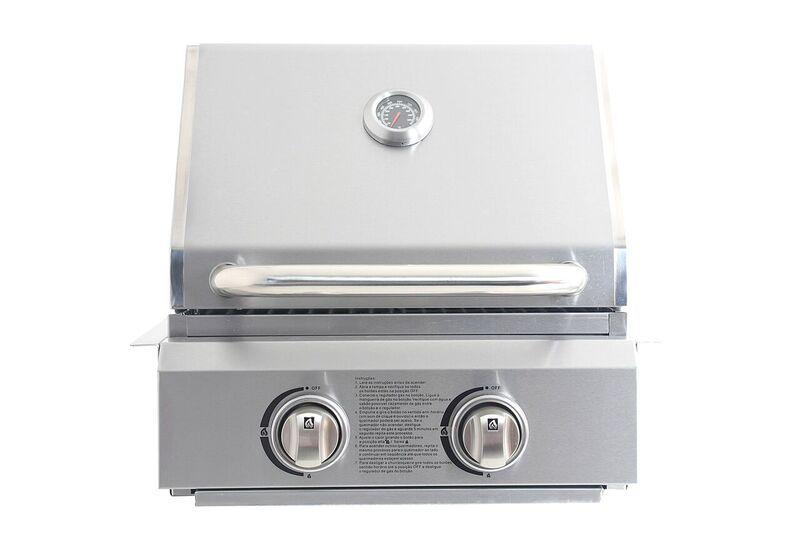 PROMOÇÃO Churrasqueira a Gas Evol Capri 100% Inox 304 - 2 Queimadores + Brindes