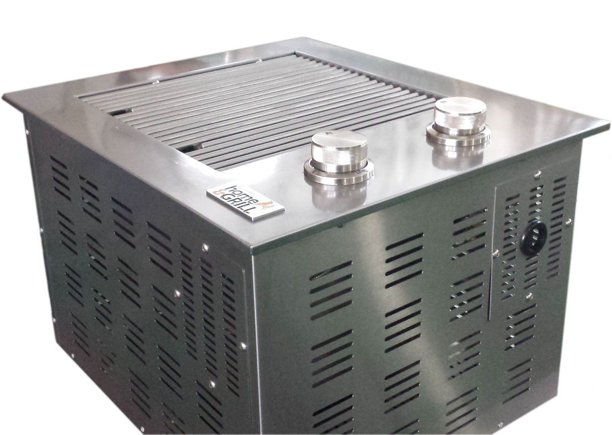 churrasqueira à gás home e grill drop in hg 2b 100 inox 304