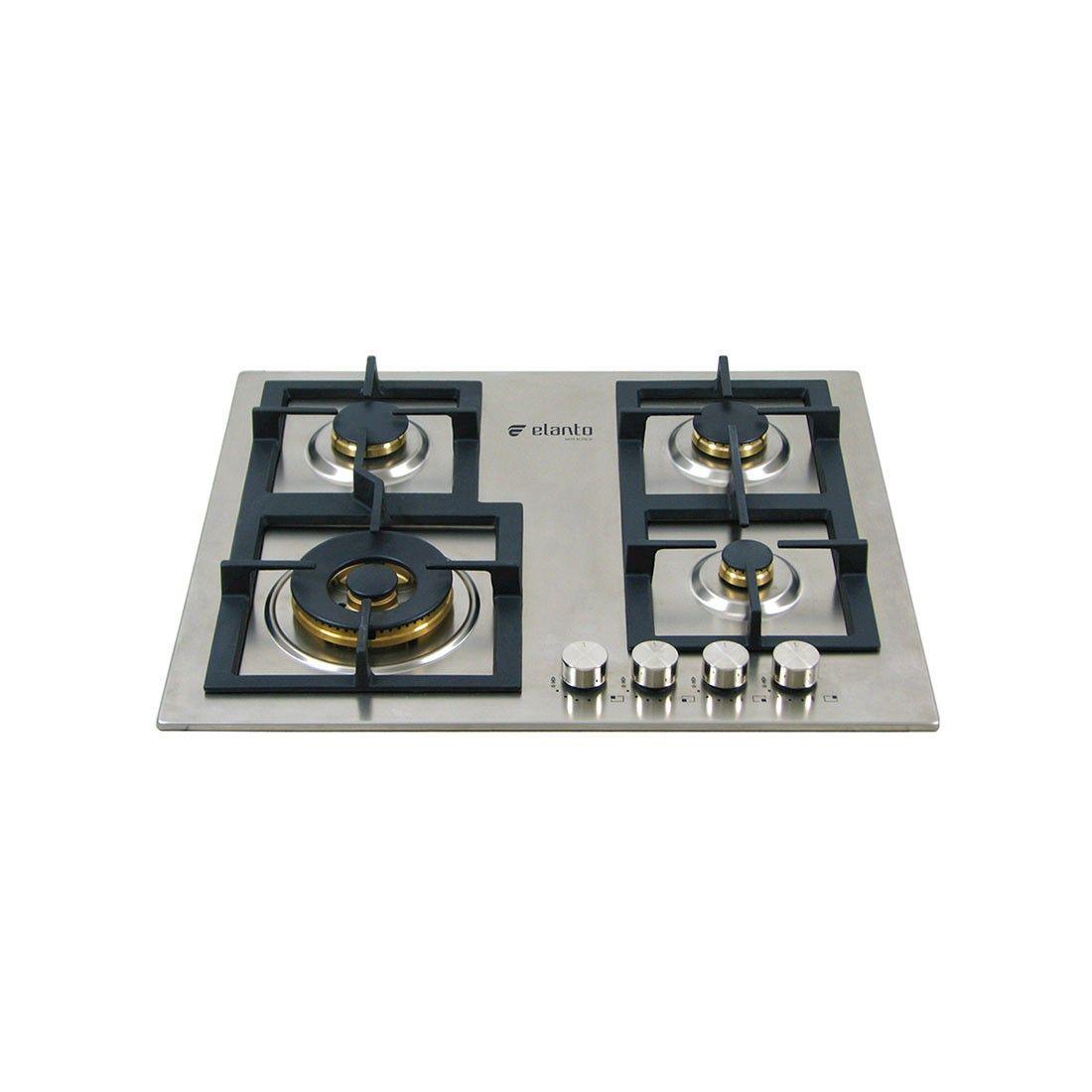 Cooktop Professionale Elanto Semiprofissional a Gás 4 Bocas Inox 60cm 220V